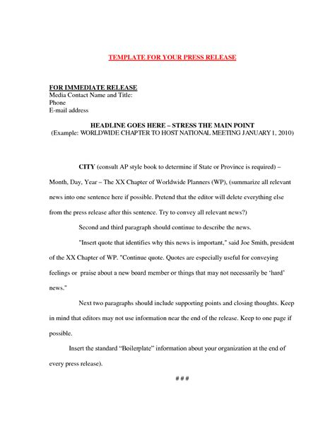 ap press release template 10 best images of book press release sle copy book