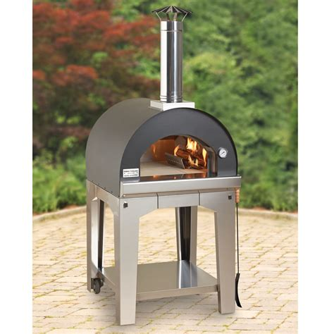 pizza oven the rapid heating wood burning pizza oven hammacher