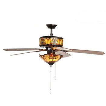 tiffany style ceiling fan tiffany style 52 quot touch of elegance double lit stained