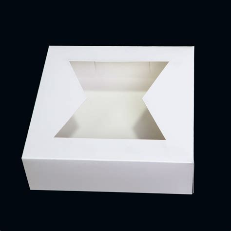 pie boxes with windows 8 x 8 x 2 5 pie box with window automatic box white