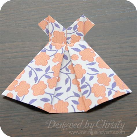 Origami Paper Dress - origami dress tutorial inklings yarns