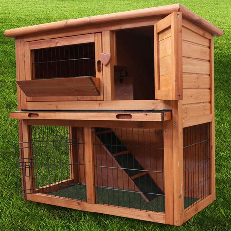Ferret Hutches And Runs 3ft rabbit hutch ferret cage pets house deluxe pet