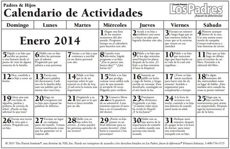 A Calendario En Inglés Calendario De Consejos Para Padres Parent Pointers