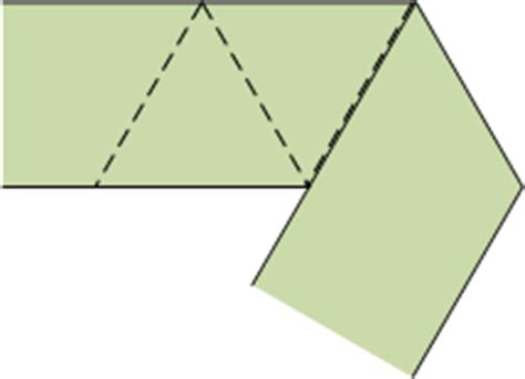 How To Fold Paper Into A Triangle - how to fold a of paper into a series of equilateral