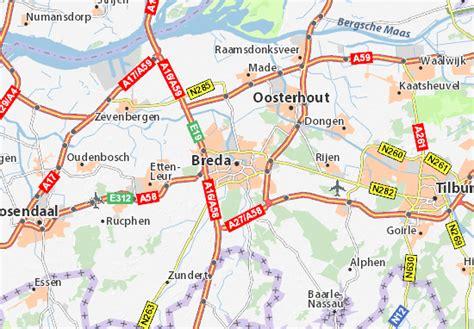 breda netherlands on map map of breda michelin breda map viamichelin