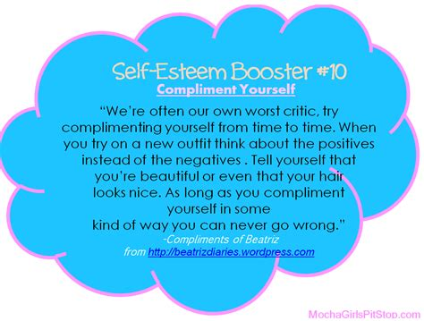 Fashion As Self Esteem Booster by Self Esteem Booster Of The Week Compliment Yourself