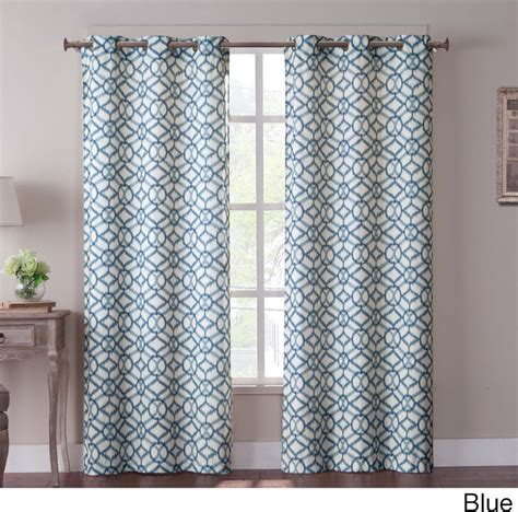 curtains overstock tanjiers ikat 84 inch grommet curtain panel pair