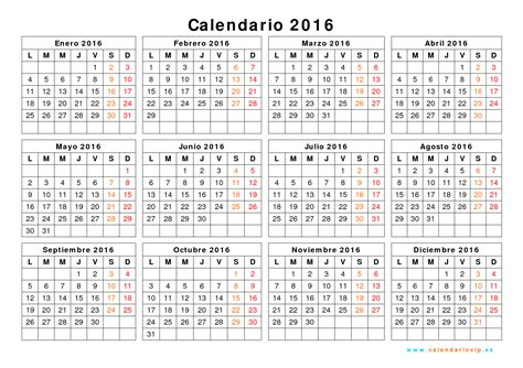 calendario por meses 2016 gratis descargar calendario 2016 excel gratis blank calendar