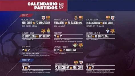 El Barcelona Calendario El Calendario Bar 231 A En El Mes De Enero De 2017