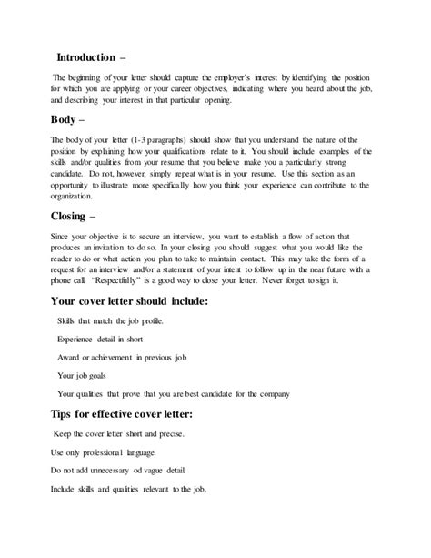 cover letter what is what is a cover letter