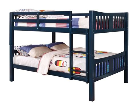 blue bunk bed cameron cm bk929bl bunk bed in blue w options