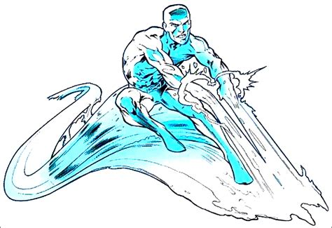marvel iceman coloring pages classic marvel forever msh classic rpg iceman