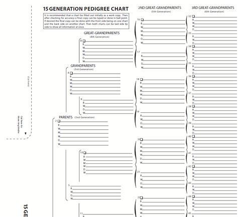 15 generation pedigree chart