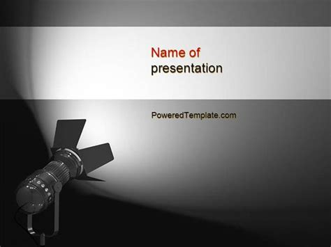 Spotlight Powerpoint Template By Poweredtemplate Com Authorstream Spotlight Powerpoint Template