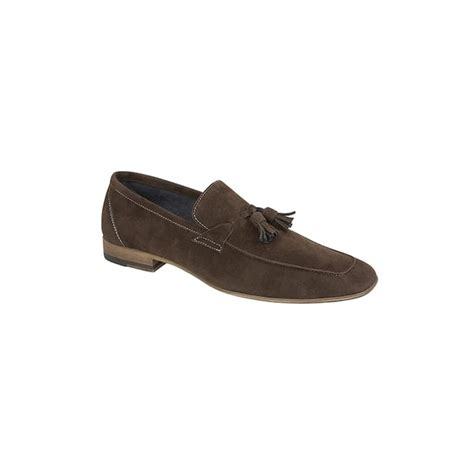 mens brown suede tassel loafers route 21 route 21 mens faux suede tassel loafer