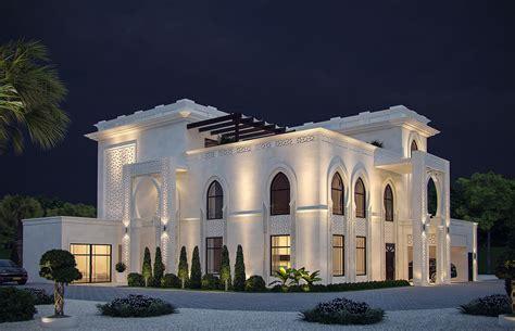islamic pattern facade white modern islamic villa exterior design jeddah saudi