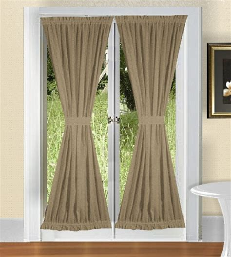 french door panel curtains solid taupe khaki colored french door curtain available