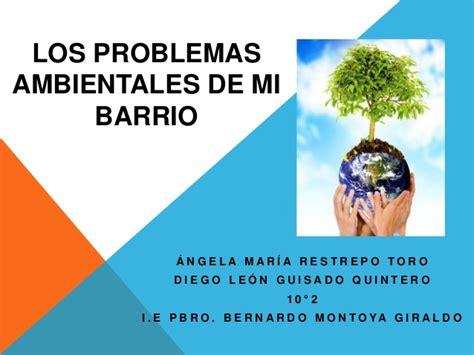 informacion de los problemas ambientales los problemas ambientales de mi barrio