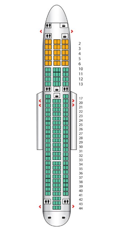 american airlines 763 seating delta boeing 767 seating chart images