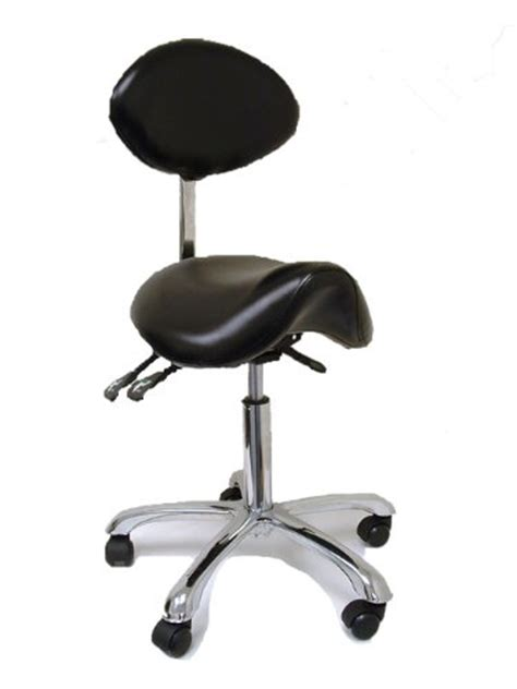 Saddle Chair With Back Support by Buy Rolling Stool With Back Support For
