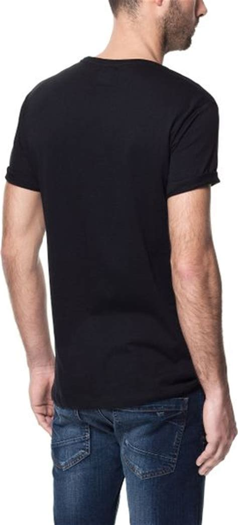 zara usa flag print t shirt in black for lyst