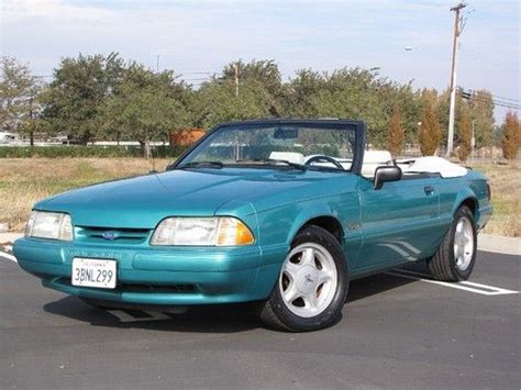 92 ford mustang lx find used 1992 92 ford mustang lx convertible 5 0 v8 ca