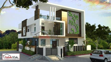 contemporary three storied residential building kerala contemporary house elevation modern designs for house