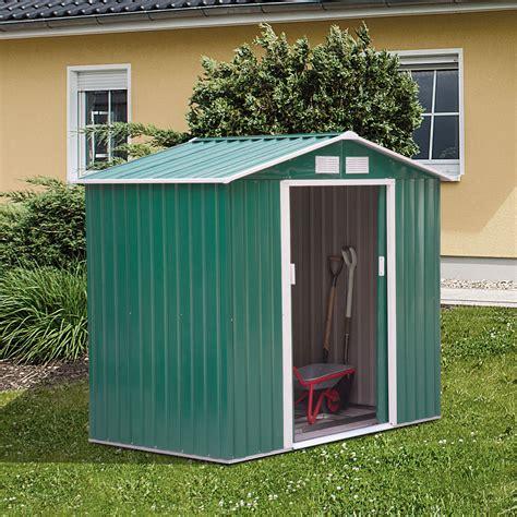 garden shed storage large yard store door metal roof