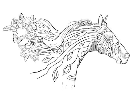 printable coloring pages for adults horses running with the wind selah works adult coloring books