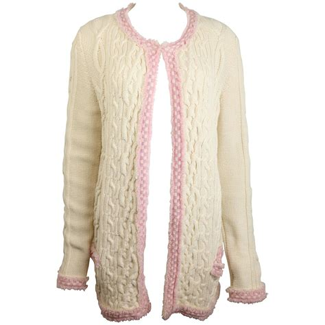 pink pattern cardigan chanel white pink fringe trim knitted pattern cardigan