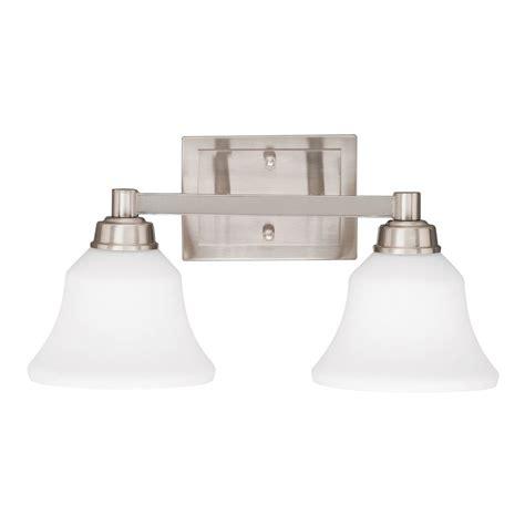 bathroom lighting brushed nickel finish kichler bathroom light with white glass in brushed nickel