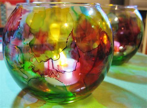 Alcohol Ink Christmas Ornaments - alcohol ink votive candle holder tutorial lulabelle handicrafts