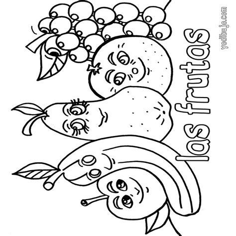 imagenes de frutas kawaii para colorear dibujos de frutas para colorear e imprimir