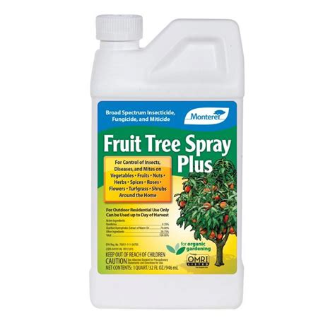 when should you spray fruit trees monterey fruit tree spray plus pest disease controls