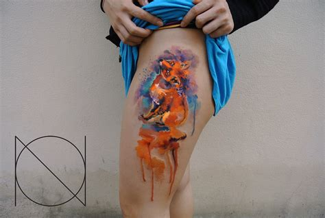 watercolor fox tattoo 10 best tattooers of 2014 editor s picks scene360