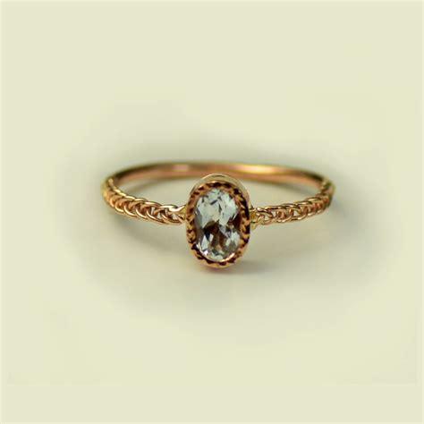 aquamarine engagement ring unique engagement ring simple