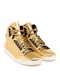 High Top Laurent High Top Trainers In Metallic For Lyst