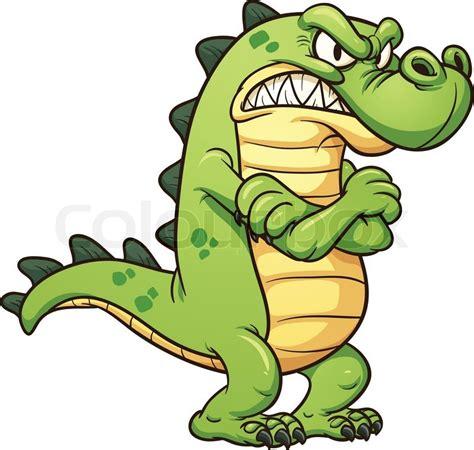 grumpy cartoon crocodile stock vector colourbox