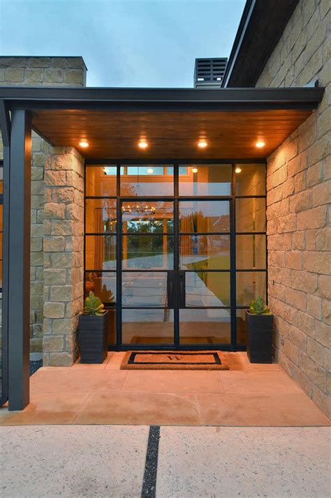 Steel Front Doors With Glass Farmhouse Interior Design Ideas Home Bunch Interior Design Ideas