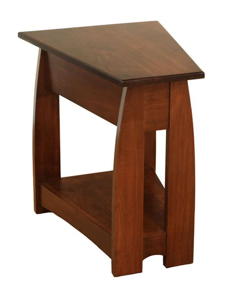 wedge accent table sonoma wedge end table ohio hardwood furniture