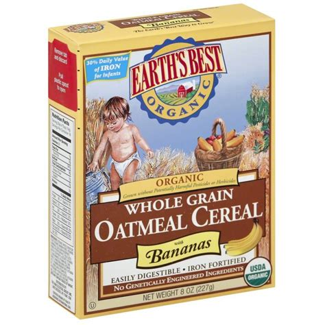 whole grains oatmeal earth s best organic whole grain oatmeal cereal with