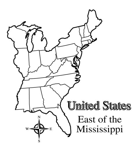usa map outline with states blank map of the east coast of the united states of