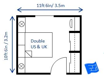 average double bedroom size bedroom size