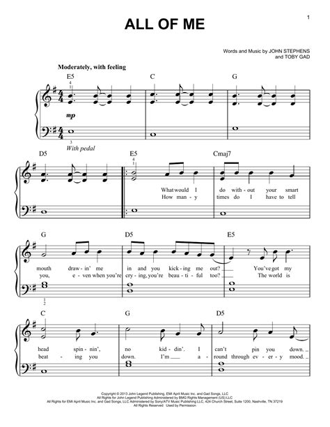 free all of me john legend piano sheet music tutorial all of me sheet music by john legend easy piano 153674