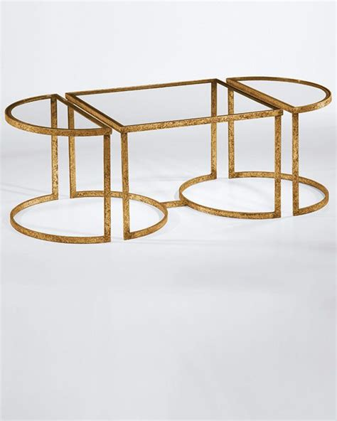 gold and glass table gold trim glass top coffee table home