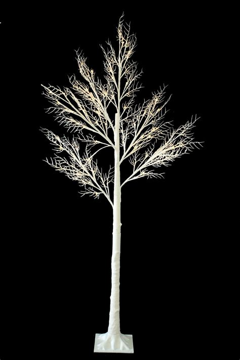 7ft christmas twig tree pre lit 120 led warm white lights
