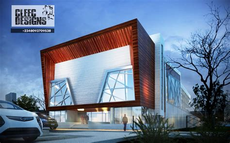 Minimalist Rooms by Moor Events Centre 3ds Max Revit Architecture Photoshop