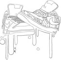 ausmalbild nike sneakers ausmalbilder kostenlos zum