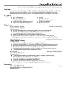 process controls engineer resume example government