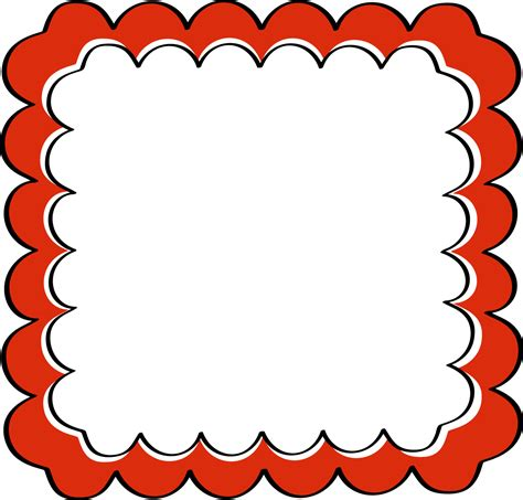 frame design mende e k scrapbook frames and borders red scalloped frame free